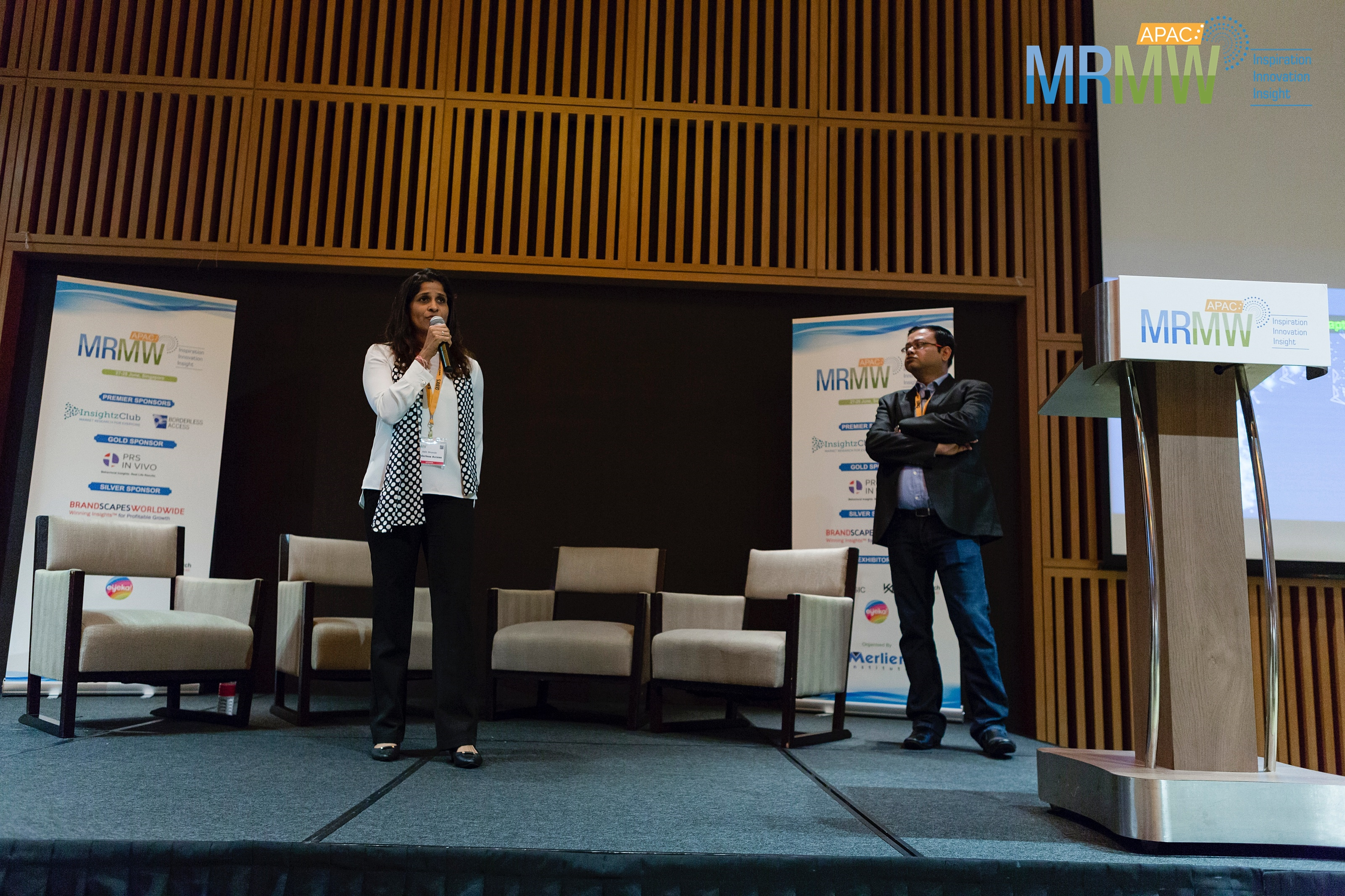 Sayantha Paul and Aditi Bhonsle from Borderless Access at MRMW APAC 2018